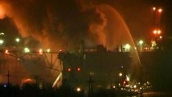 Россия частично затопила подлодку для борьбы с пожаром