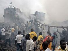 На месте авиакатастрофы вспыхнули массовые беспорядки