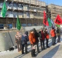 Новосибирск. Пикет в защиту Сирии, Ливии, Муаммара Каддафи