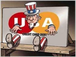 Какие долги у американских семей: