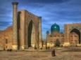 Город Бухара на карте Узбекистана