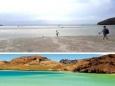 В Калифорнии с побережья отступила вода