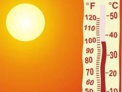 Температурные рекорды прошлой недели