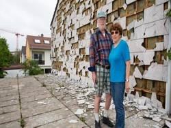 В Баварии град повредил машины и дома