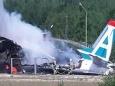 В Бурятии Ан-24 врезался в ангар и загорелся