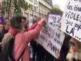 Париж: феминистки напали на протестовавших женщин