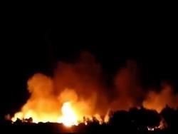 Беженцы подожгли еще один греческий лагерь
